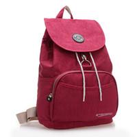 Wholesale New Women Backpack Waterproof Nylon Colors Lady Women s Backpacks Female Casual Travel bag Bags mochila feminina