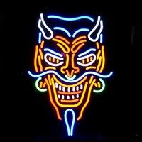 Wholesale New Tattoo Devil real glass neon beer signs pub bars neon light Red Blue quot x15 quot