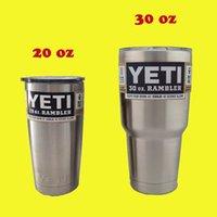 Wholesale DHL Yeti oz oz Cups Cooler YETI Rambler Tumbler Travel Vehicle Beer Mug Double Wall Bilayer Vacuum Insulated OTH242