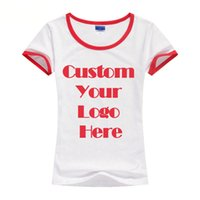 Cheap Women custom t-shirts Best Crew Neck Short silk screen print tee
