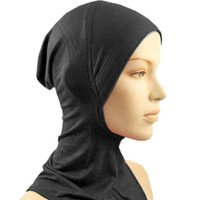 Wholesale Colors Under Hat Cap Bone Bonnet Ninja Inner Hijabs Women Muslim Islamic Wrap Headscarf Neck Full Cover Scarf