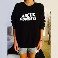 arctic winter clothing - Female Black Arctic Monkeys Letter Printed Sweatshirt Women Winter Fall Pullover Print Fashion European Style Clothes Rock Music