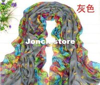 Wholesale Factory outlets Korean version of the new fall and winter scarves flowers are blooming printing Paris yarn scarf silk
