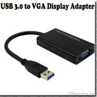 Acheter Hdmi ordinateur vidéo-Les composants d'ordinateur en alliage d'aluminium Shell USB 3.0 vers VGA Carte graphique Video Display Adapter Cable externe pour Windows 7 WIN 8