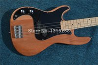 left handed bass guitar - New OEM electric guitar guitarra meters bass guitar shop wood color left guitarra guitar China