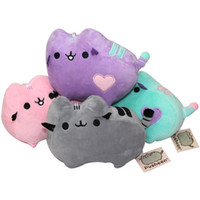 small stuffed animals - 4 Style quot cm Kawaii Brinquedos New Small Pendant Pusheen Cat Keychain Stuffed Plush Animals Toys for Girls