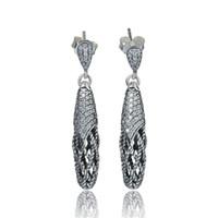 Wholesale Fashion Swarovski Crystal Earrings Stud Knot Pendants Earring Fits European Style Bracelets S925 Sterling Silver Er1045H8