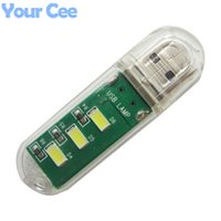 bank connections - Mini LED Night Light Portable USB Light Computer Laptop Power Bank Lamp Parallel Connection V W