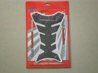 Wholesale 3D Rubber Carbon Fiber Tank Pad Tankpad Protector Sticker For Suzuki Kawasaki Honda Black Universal
