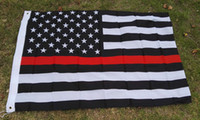 Wholesale 3 ft American flag in black and white with red stripes red stripe American flag two buckle