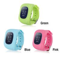 Wholesale Q50 GPS GSM GPRS Smart Watch Children Kid Intelligent Locator Tracker Anti Lost Smart Wristband Remote Monitor