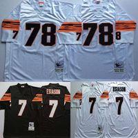 bengals throwback jersey - Throwback Cincinatti Bengals Football Jerseys Esiason Black White Mitchell Ness Jersey
