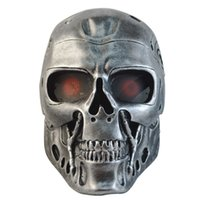 army film - Halloween Mask Masquerade for Adult Terminator Resin Mask CS Wargame Field Game Cosplay Terminator Movie Military Army Mask Color