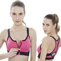 adjustable front shocks - XIANGJUN adjustable high intensity professional sports bra without rims shock zipper vest female running fitness yoga bra