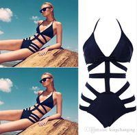 bathing suit brands for women - Brand Victoria Swimwear For Women High Waist Swimsuit Bikinis Sexy Monokini Bathing Suit Womens Bandage Swimsuit Black Swimwear