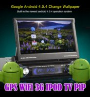 Wholesale HD Dual Core Android car pc tablet inch din car dvd gps radio stereo Head unit WiFi G IPOD DTV SWC