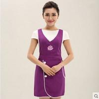 beauty salon apron - Cute apron han edition style supermarket nail salons beauty salon beautician overalls apron female