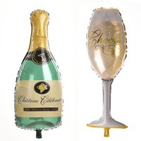 beer party decor - 1 Cartoon Champagne cup beer Bottle Balloons foil balloon helium ballons for wedding balloons party decor