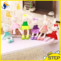 animal toy factories - 10pcs Factory Cute Colorful Bunny Plush Animal Toy Soft Rabbit Doll Birthday Gifts for Kids and Girls ST359