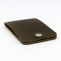 Wholesale Original Genuine Leather Slim Wallet Money Clip ID Credit Card Holder Passcase Purse