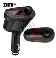 Wholesale Car speaker LCD high speed MP3 Player Music Wireless FM Transmitter USB SD memory card MMC With high quanlity Red