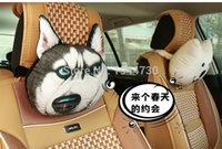 american car seat - Animal D Car Seat Pillow Head Neck Set American Puma Tiger Leopard Head Support Pillow Cotton Auto Head Neck Rest Cushion
