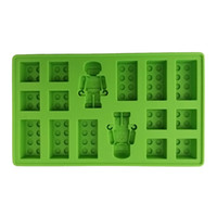 Wholesale 10pcs Minifigure Building Brick Silicone Ice Tray Candy Chocolate Mold DIY Jelly Mold For Lego Lover