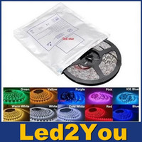 Wholesale Waterproof Led Strips Light Warm White Red Green Blue RGB Flexible M Roll Leds V outdoor Ribbon
