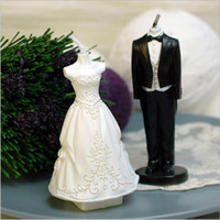 Wholesale Brand New Wedding Candle Creative Bride And Bridegroom Wedding Party Candles For Lover Present Wedding Accessories Supply Drop Shipping
