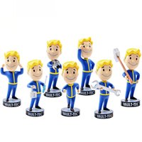 Wholesale 7 Styles Hot Gaming Heads Fallout Characters Vault Boy Bobbleheads Series PVC Action Figure Fan Collection Kid Gift Toys Desk Doll