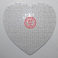 Wholesale sublimation blank heart shape puzzles x19cm small