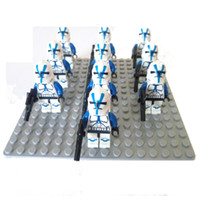 Wholesale 10pcs star wars minifigures captain rex Clone wars blue clone trooper compatible Building Block Brick darth vader minifigs