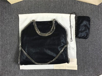Wholesale DHL FALABELLA FOLD OVER shaggy deer tote bags women pvc chain shoulder bags cm cm cm Stella Mccartney big shopping tote chains bags