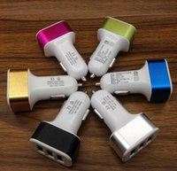 Wholesale DHL usb metal coil car charger car charger v2 a vehicle mounted mobile charger