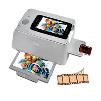 Wholesale 35mm Negative Film Slide Scanner for Smartphone iPhone S S SamSung S2 S3 iphotojet APP AA Battery USB Power DPI