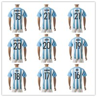 Wholesale Customized Argentina Soccer Jersey Home Away rd soccer jersey messi jersey WHITE Mix Order Drop Shipping Accepted
