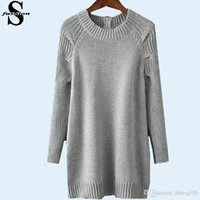 backing up computer - Fashion Women Grey Autumn Sweaters Round Neck Long Sleeve Long Knitwear Back Zip Up Cardigan Outwear ZNE0829