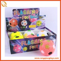 Wholesale Multi Color Flashing Light Up Spiky Rubber Bouncy Ball Sensory Fidget Toy Kids Birthday Party Cheer Items