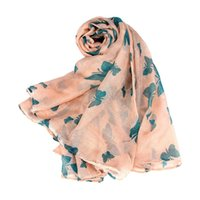 bali design - New Design CMX100CM Bali yarn scarg women Long Neck Butterfly Print Voile Wrap Shawl Stole Scarf N17