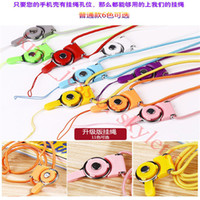 Wholesale Fashion Rotatable Neck Strap Detachable Ring Lanyard hanging Charming Charms For Cell Phone S7 Iphon MP3 MP4 Flash Drives ID Cards Cellphone