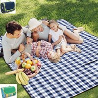 Wholesale 145 CM Oxford Cloth Picnic Blanket Outdoors Camping Pads Picnic Blanket BBQ Outdoor Travel Famliy Party Rug Pieces DHL Days