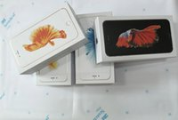 Wholesale 30pcs High Quality USA Version Phone Packing only packaging box For iPhone s abd s plus Free shippin DHL