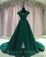 bella ball gown - 2016 Bella Queen Hot Chinese Style Ball Gowns Green Simple Pattern Strapless Off Shoulder Royal Flavor Satin Evening Dresses For Ladies