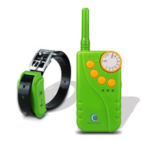 Wholesale PETINCCN P681 M Remote Dog Training Collars Waterproof Rechargeable with Four Functions of Range finding vibration shock and Tone Green