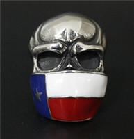 asian mask - Size Fashion Jewelry Cool Flag Mask Skull Ring L Stainless Steel Hot Polishing Skull Biker Ring