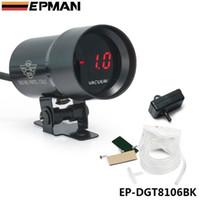 Wholesale EPMAN JDM Universal mm Micro Digital Gauge Auto Red Led Vacuum Gauges Car Vehicle Meter Black Color EP DGT8106BK