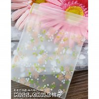 baking christmas gifts - 1000pcs Rose Flower Frosted OPP DIY Gift Packaging Bag Christmas Wedding Cookies Candy Baking Packing Bag BZ125