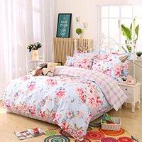 adult fall bedding set - New Elegant Cotton Bedding Set for Fall Winter Floral Duvet Cover Sets King Size Ropa de Cama Bed Sheet MS010