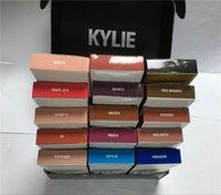 Wholesale High quality Kylie lip lipkit Velvetine Liquid Matte Lipstick in Red Velvet Makeup Lip Gloss mixcolor good
