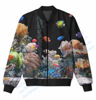 aquarium s - Real USA Size Aquarium D Sublimation Print zipper up Jacket plus size
